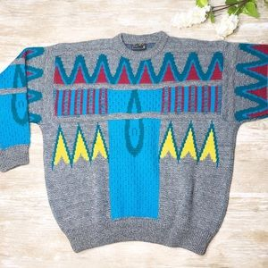 {COOGI} Australia Wool Multicolor Sweater 1990's